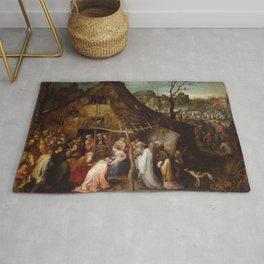 "Jan Brueghel The Elder ""Adoration of the Magi"" Rug"