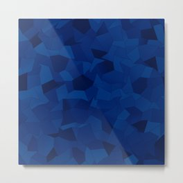 Geometric Shapes Fragments Pattern db Metal Print