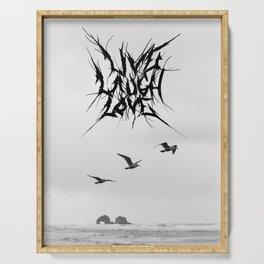 LiveLaughLove_metal Serving Tray