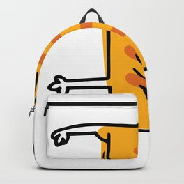 Funny Yoga Cat Illustration Yoga Asana Fun Backpack