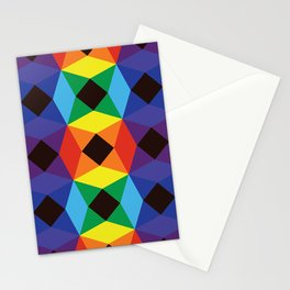 Rainbow Octagons Stationery Cards
