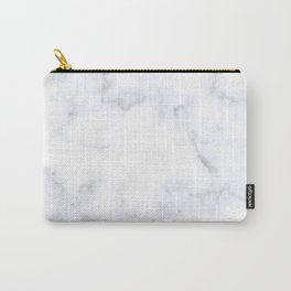 Classic Grey and White Natural Stone Veining Quartz Carry-All Pouch