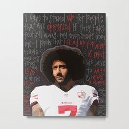 Colin Kaepernick. Metal Print