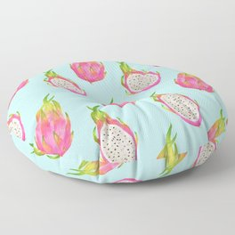 Pretty Pitaya Dragonfruit Print Floor Pillow