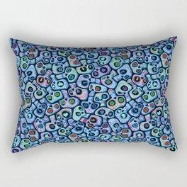 Calaveras del Dia de los Muertos azules. Rectangular Pillow