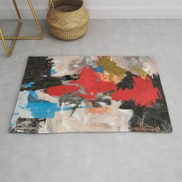 Abstract Expressionism Painting Rug