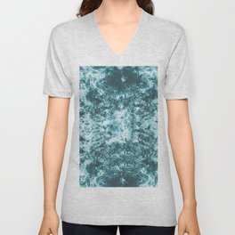 Tranquil Blue Ocean Waves and Foam Unisex V-Neck