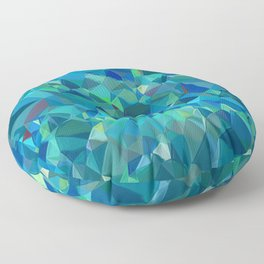 green turquoise luxurious sparkling geometric crystals Floor Pillow