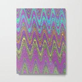 kat - retro wave design pink purple lime turquioise Metal Print