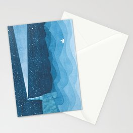 Lighthouse illustration Stationery Cards