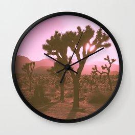 Rosy Haze In Joshua Tree Wall Clock
