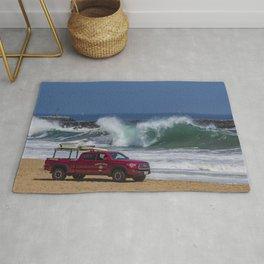 Newport Beach Lifeguard Truck Rug
