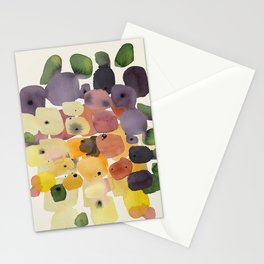 Watercolor Modern Organic Abstract Art Stationery Cards