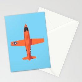X-1 Mach Buster Rocket Aircraft - Orange Sky Stationery Cards