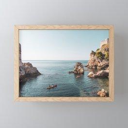 Blackwater Bay Dubrovnik in Croatia Framed Mini Art Print