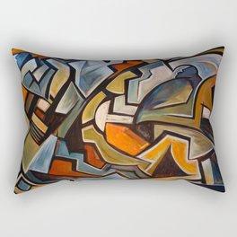 La Duree de Vie Moyenne d'un Papillon Rectangular Pillow
