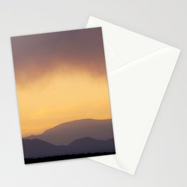 Sunset over the Ortiz Mountains Stationery Cards