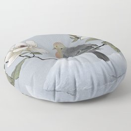 Mourning Dove And Magnolia Floor Pillow