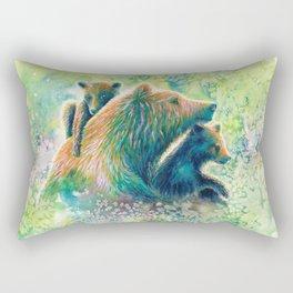 Mother Grizzly Bear Rectangular Pillow