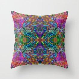 Buddha 5 geometry III Throw Pillow