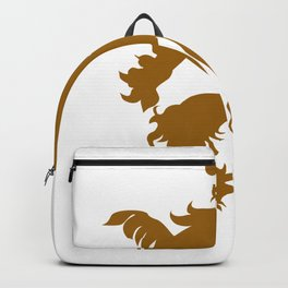 Retro Lion Artwork Backpack