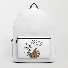 Sloth Hanging on to 2020 Backpack