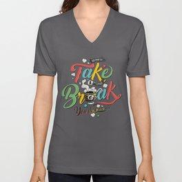 Take A Break Unisex V-Neck