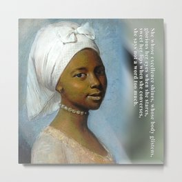 African Beauty Tote Metal Print