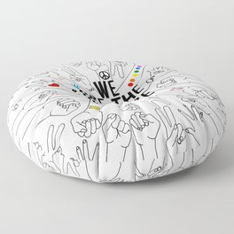 We Are The Future Tattoos Part 1 Floor Pillow
