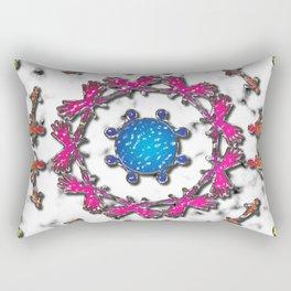 Alien Artefact Mandala Pattern Rectangular Pillow