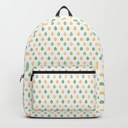 Yellow and green raindrops Backpack