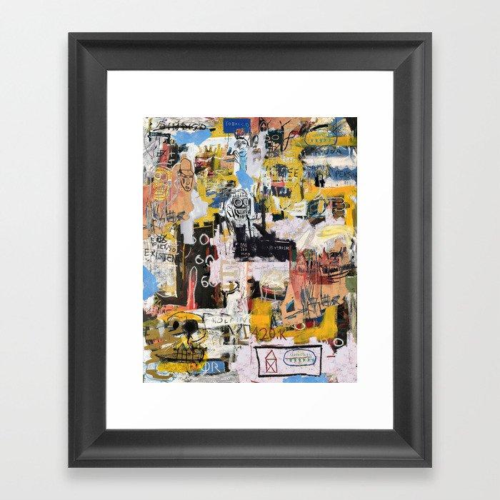 Basquiat World Gerahmter Kunstdruck