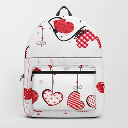 Heart Collections. Set hearts for Valentine's Day greeting card design element. Heart and line decorative border frame  Backpack