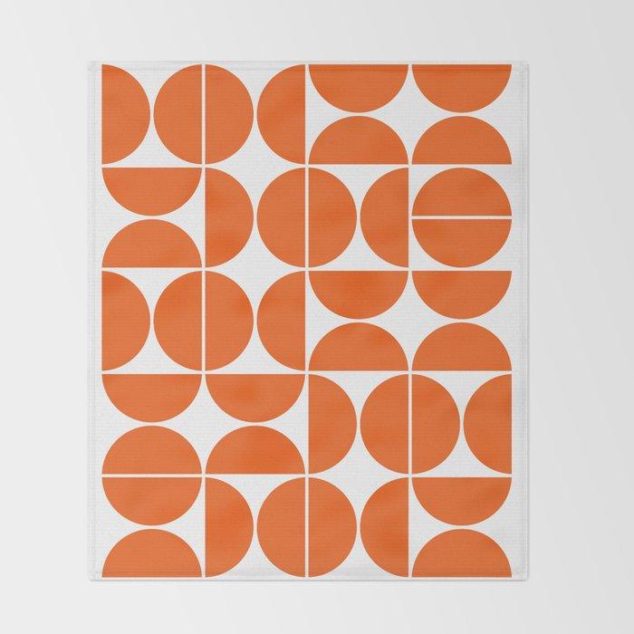 Mid Century Modern Geometric 04 Orange Decke