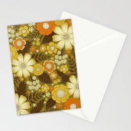 1970s Retro/Vintage Floral Pattern Stationery Cards