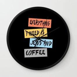 Jesus And Coffee Wall Clock