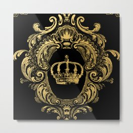 Gold Crown Metal Print