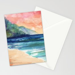 Ke'e Beach Stationery Cards