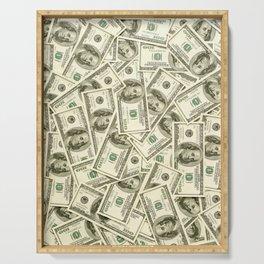 100 dollar bills Serving Tray