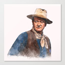 John Wayne - The Duke - Watercolor Leinwanddruck