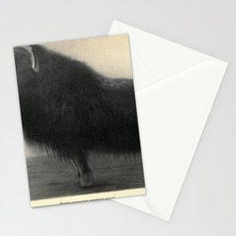 Vintage Print - Mammals of the North American Continent (1905) - Black Musk-Ox Stationery Cards