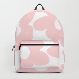 Large Baby Pink Retro Flowers on White Background #decor #society6 #buyart Backpack
