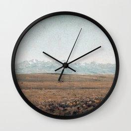 Sanford Robinson Gifford Longs Peak, Colorado Wall Clock