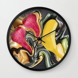 Fruit apple banana mix by Kunsthaus_Lay Wall Clock