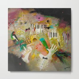 African American Masterpiece 'Jazz Songbird at the Apollo Theatre' by Tatyana Palchuk Metal Print