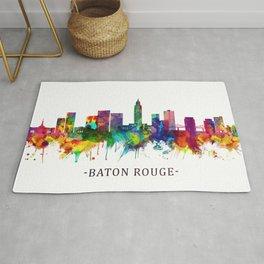 Baton Rouge Louisiana Skyline Rug