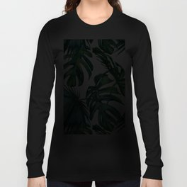 Classic Palm Leaves Tropical Jungle Green Langarmshirt