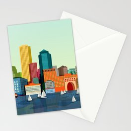 City Boston Stationery Cards