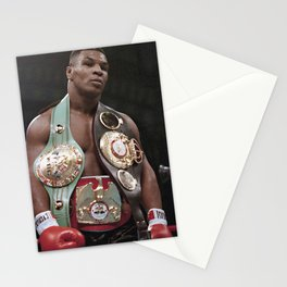 Mike Tyson with belts Poster Boxing Hand Made Posters Stationery Cards