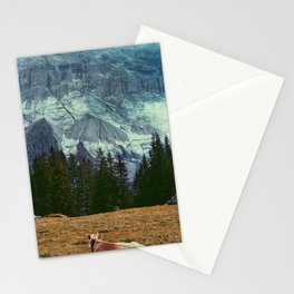 Cow in switzerland Stationery Cards